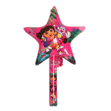 Inflatable Cartoon Star Balloon Toys Children PVC Inflated Toys Kids Birthday Party Favors Stage Props Cheerleader Clappers