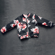 2017 Hot Sale Autumn Girl Coats and Jackets Kids outerwear Children Jackets for Girls Clothes Cartoon Print Jackets(China)