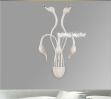 New Design Swan Wall Lamps Bedroom Headboard Bedside Lamp banheiro LED Living Room Light Wall Sconce lampe deco(China)