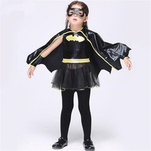 Buy Free Christmas Fancy Masquerade Party Batman Bat Girl Costume Children Cosplay Dance Dress Costumes Kids Halloween for $13.99 in AliExpress store