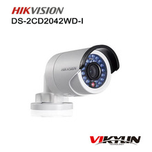 Original HIK DS-2CD2042WD-I HD 4MP High Resolution 120db WDR POE IR IP Bullet Network CCTV Camera English Version support NVR(China)