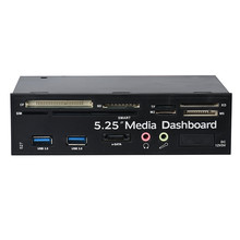 Best Price 5.25 USB3.0 High Speed Media Dashboard Front Panel PC Multi Card Reader SATA top quality feb16