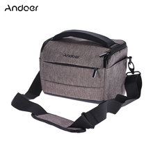 Andoer DSLR Camera Bag Case Photo Bag w/ Shoulder Strap for Canon Nikon Sony FujiFilm Olympus Panasonic DSLR Cameras +Rain Cover