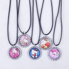 Duffy&Shelly/Hello Kitty/Doc McStuffins/Sofia/Bubble Guppies Pendant Inspired Cord Necklace Photo Prop Fashion Accessory