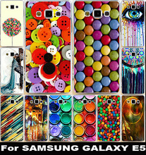 Flexible Silicon Cell Phone Cases For Samsung Galaxy E5 Covers E500 E500F Housing Bag Paintbox Chocolate Candies Shell Hood Skin