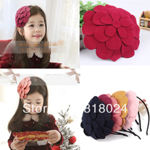 1pc 10 Colors Retail 2014 New Big Felt Flower Children Women Girls Hair Accessories Kids Hairbands Hair Bows Headband
