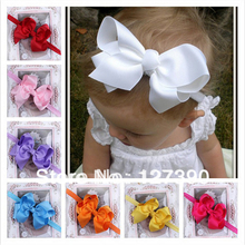 Free Shipping Infant Bow Headbands Girl Flower Headband Children Hair Accessories Newborn Hairbands Baby Photography Props