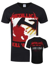 Gildan Metallica Kill 'Em All Tracks Men's Black T-shirt men's t-shirt(China)