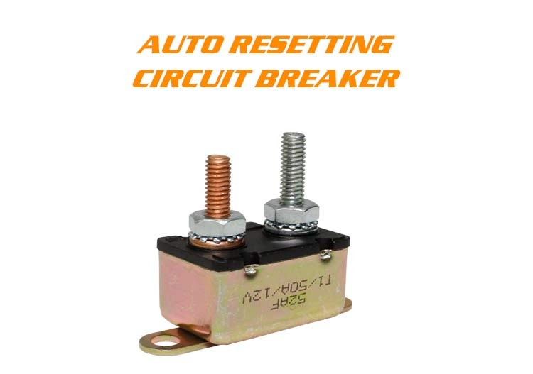2Pcs 50Amp Auto Reset Circuit Breaker Fuse Dual Battery Car RV Boat