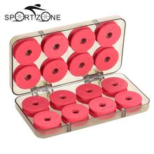 16pcs EVA Foam Winding Board Fishing Line Shaft Bobbin Spools Trace Wire Gear Box RED Utility Line Fishing Tackle Boxes Case(China)