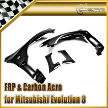 EPR Car Styling For Mitsubishi Evolution 8 9 EVO Portion Carbon Fiber VRS Style Aero GT Front Vented Fender
