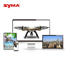 Quadrocopter with Camera 720P WiFi FPV HD Brush Motor Syma X8HW RC Drone 2.4G 4CH 6-Axis Remote Control Helicopter(China)