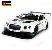 New Maisto Bburago 1:24 Continental GT3 Track Car Diecast Model Car Toy For Baby Birthday Gifts Toys New In Box Free Shipping