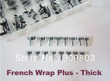 Freeshipping - French Wrap Plus Thick / french nail wrap tips - black 128 tip /Box(China)
