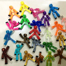 New 5pcs/lot Mini Doll figures with sucker Boy toys Robot action toy figures