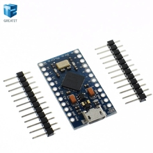 1PCS New Pro Micro for arduino ATmega32U4 5V/16MHz Module with 2 row pin header For Leonardo in stock . best quality