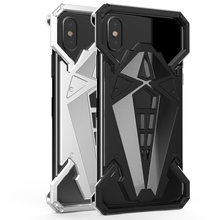 Phone Metal Bumper for iPhone X Case Powerful Metal Cover Case for iPhone X Cell Phone Black Silver(China)