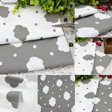 Choose color Gray clouds cloth DIY baby pillow patchwork Sewing cotton fabric for Home Textile Bedding Quilting fabric