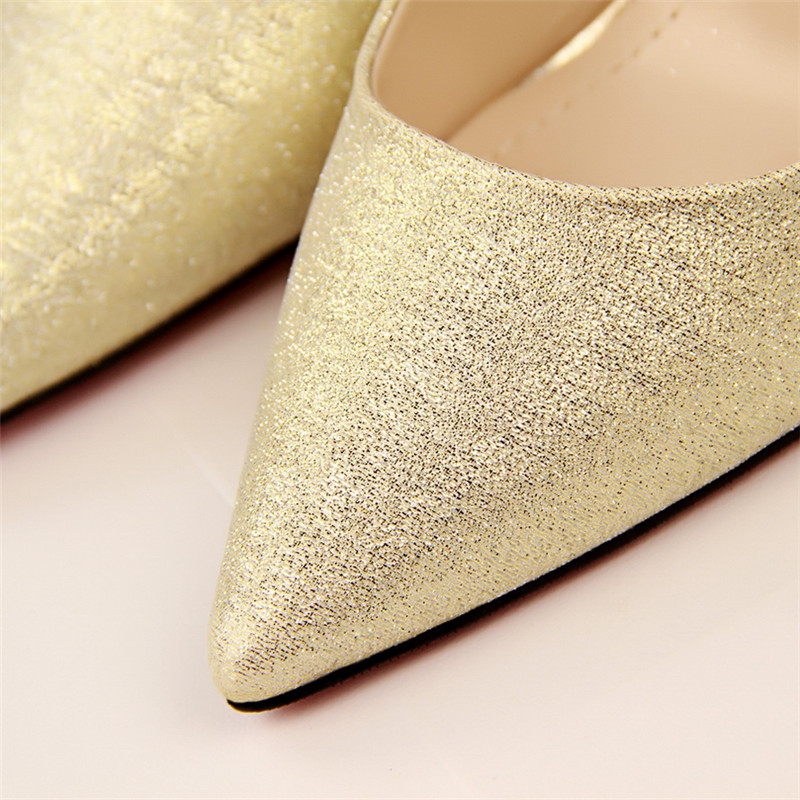 Sexy High Heels Shoes Woman Pumps Red Gold Silver High Heels Shoes Woman Ladies Wedding Party Shoes 2018 14