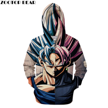 Dragon Ball 3D Zipper Hoodie Men Zip Goku Tracksuit Anime Drop Ship ZOOTOP BEAR