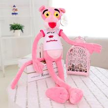 1pc 80cm NICI Hot Sale Wear Clothes Lovely Leopard Wave Of Pink Panther Plush Toys t-shirts Pink Pinkpanther Doll birthday gift