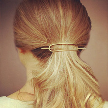 New fashion hairwear golden plated simple geometry bar Hair Accessories gift for women girl H414