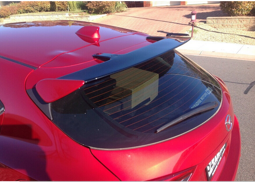 A whole new ABS Grey primer Rear Trunk lid Aero Wing  Spoiler For Mazda 3 Axela hatchback 2013 2014 2015<br><br>Aliexpress