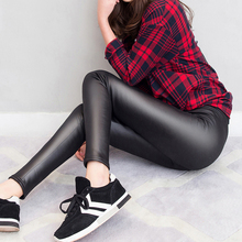 2017 Spring Thin Leather Pants Imitate Skin Underpant Other Clothes Ma'am Bound Feet Trousers Will Code Self-cultivation YDK201S