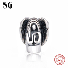 sterling Silver  925 Original goddess angel Charm beads Fit Authentic Pandora Nice Charms beads for jewelry making free shipping