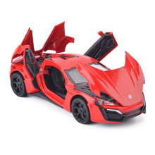 Fast And Furious Lykan Hypersport Alloy Cars Models Four Color Metal Cars Collection Toys For Children Diecasts & Toy Vehicles(China)