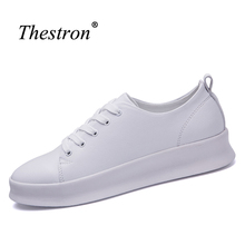 Thestron Adult Platform Sneakers Black Male Brand Sneakers Spring Boys Skateboarding Shoes Low Top Youth Skate Board Footwear(China)