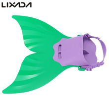 Cute Swimming Fins Flipper Tail Monofin Kid Children Mermaid Swim Fin Swimming Foot Flipper Training Shoes Tail Diving Feet(China)