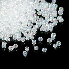 8SEASONS 100 Gram Clear AB Color Glass Seed Beads 10/0 Jewelry Making (B09085)