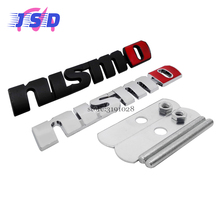 Car Styling 3D Auto Sticker Front Grille Emblem for Nismo Logo for Nissan qashqai juke x-trail t31 t32 primera leaf versa Altima