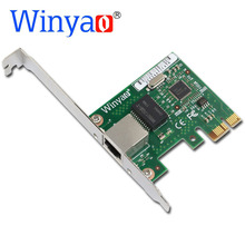 Winyao I210T PCI-E X1 Gigabit Ethernet Network Card(NIC), Copper RJ45 Port,PCI Express 2.1 x1, I210-T1 1000M I210T1 lan i210(China)