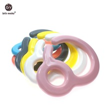 Buy Let's Make 10pcs Plastic Teething Ring Links Baby Stroller Toys Pacifier Hook Plastic Teething Diy Dummy Clips Baby Charms for $7.90 in AliExpress store