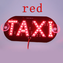 1pcs/lot Taxi Led Car Windscreen Cab indicator Lamp Sign Blue LED Windshield Taxi Light Lamp 12V BA