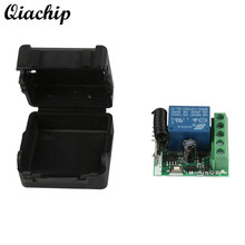 QIACHIP DC 12V 1CH 433MHz Universal Wireless Remote Control Switch RF Relay Receiver 433 MHz Transmitter Button Module Diy Kit(China)
