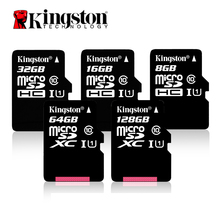Original Kingston Micro SD card Memory Card 128GB 64GB 32GB 16GB Class10 TF Card MicroSDHC/SDXC UHS-1 8GB class 4 MicroSD(China)