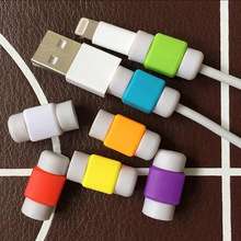 50PCS USB Cable Protector Colorful Cover Case For Apple Iphone 7 4S 5S 5C 6 Plus 6S SE Charger Data Cable Earphones Accessories