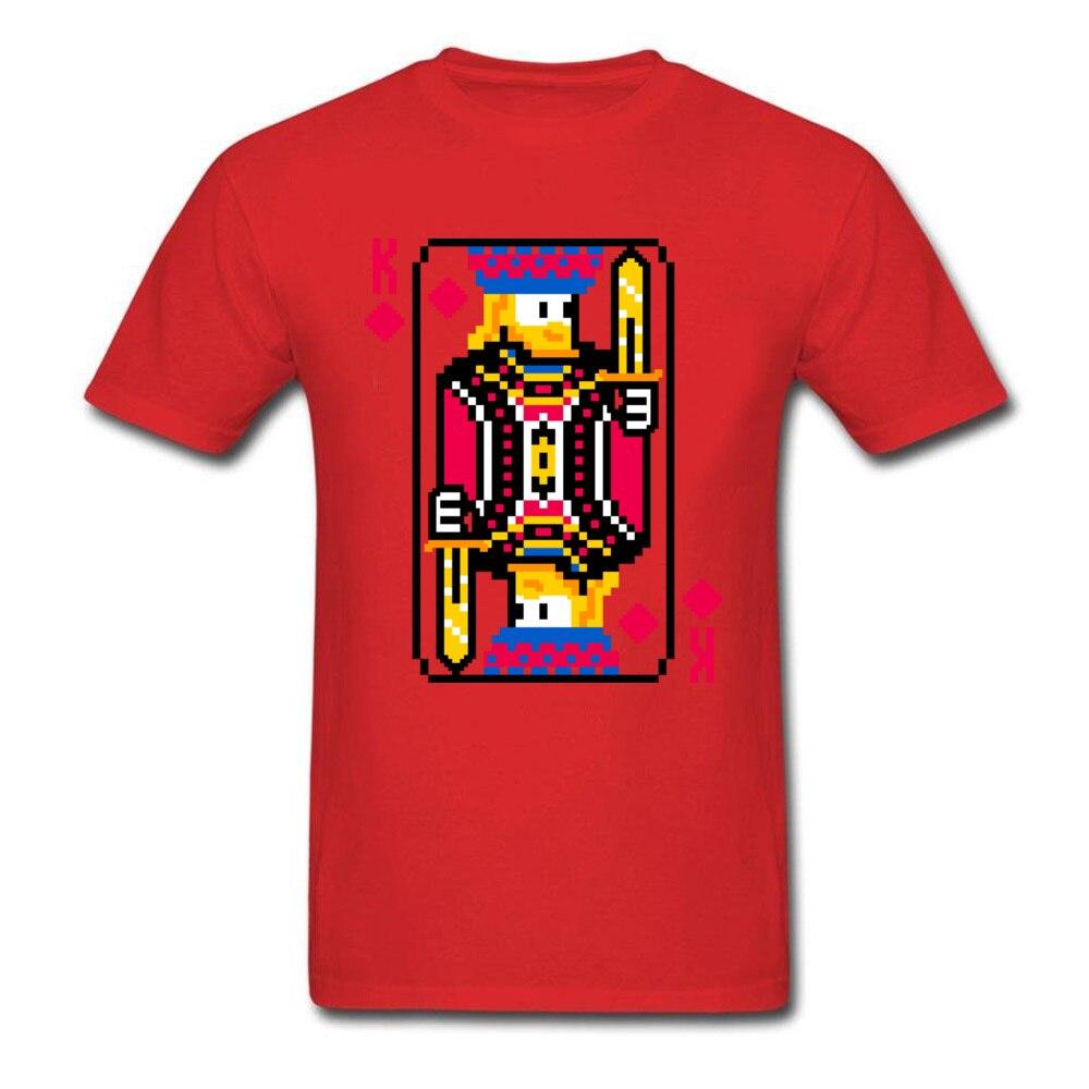 King of Diamonds Graphic Mens T Shirt Crewneck Short Sleeve Cotton Tees Summer T-shirts Free Shipping King of Diamonds red