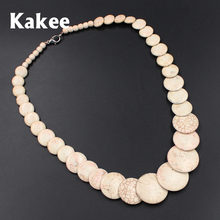 Kakee Ethnic Minimalist Fashion Jewelry Stone Round Strand Bead Tibetan Statement Women Turquoises Necklace Collier Gift