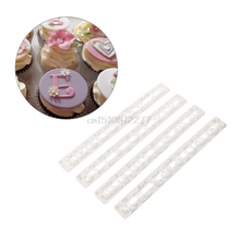 Alphabet Letters and Arabic Numbers Stencil Embossing Biscuit Fondant Cake Mold #H0VH# drop shipping(China)