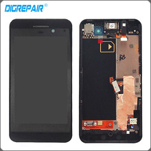 Black For Blackberry Z10 3G Version LCD Display Touch Screen with Digitizer Assembly + Bezel Frame Free shipping