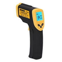 LCD Portable Non-contact Infrared Digital Industrial Object Thermometer Gun with Emissivity -50 to 380C Temperature Gauge