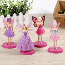 4pcs/set Tinkerbell FAIRY PVC Action Figures 14CM Flying Tinker Bell Fairy Model Dolls Toys for Girls AFD041(China)