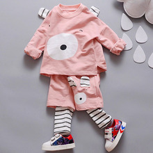 In The Fall Of 2017The Clothes Of A New Style Boy Cartoon Bear Long Sleeve Shirt+Personalized Long Pants Children'S Clothing Set