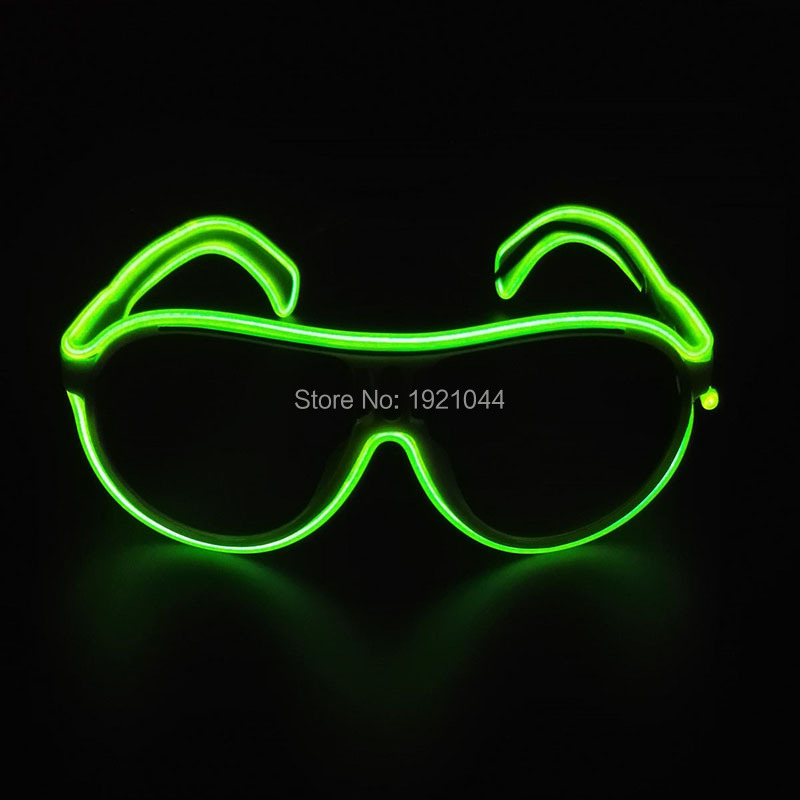 2017 New design 10Colors Choice Flashing EL Wire Led Neon Glasses Popular Colorful Child Glowing Gift For Birthday Party Decor(China (Mainland))