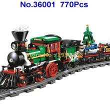 Lepin 36001 770Pcs Creative Series Christmas Winter Holiday Train Building Block Compatible 10254 Brick Toy