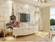 custom 3d photo wallpaper living room mural sticker retro France Eiffel Tower painting sofa TV background wall non-woven mural